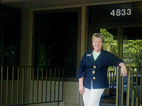 Vicki Reed outside her office in Austin, Tx